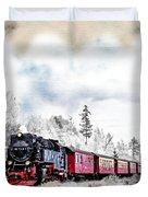 Diesel Powered Passenger Train Duvet Cover