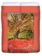 Digital Watercolor Painting Of Beautiful Autumn Fall Nature Fair Duvet Cover