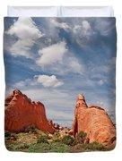 Dinosaur Shaped Rock Duvet Cover