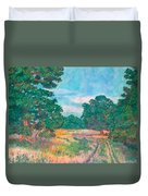 Dirt Road Near Rock Castle Gorge Duvet Cover