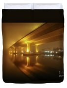 Disappearing Bridge Duvet Cover by Tom Claud