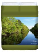 Dismal Swamp Canal In Spring Duvet Cover
