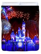 Disneyland 60th Anniversary Fireworks Duvet Cover