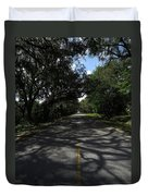 Dixie Highway In Micanopy Florida Duvet Cover