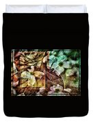 Dogwood Abstract Duvet Cover