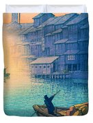 Dotonbori Morning - Top Quality Image Edition Duvet Cover