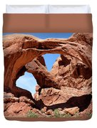 Double Arch In Utah Park During Summer Time  Duvet Cover