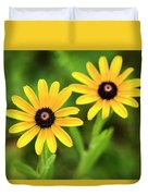 Double Daisies Duvet Cover