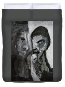 Double Portrait Duvet Cover