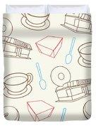 Doughnut_wallpaper_f3 Duvet Cover