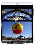Downtown Disney Tribute Poster 2 Duvet Cover