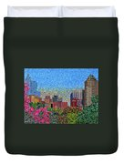 Downtown Raleigh - October Sunset Duvet Cover
