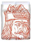 Dracula Or Vlad Tepes, 1491 Woodcut Duvet Cover