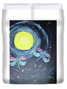 Dragonflies And Moonlight Duvet Cover