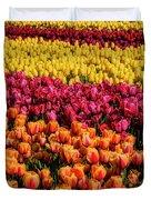 Dreaming Of Endless Colorful Tulips Duvet Cover