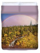 Dreams Come True With Text Duvet Cover