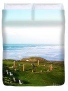Droskyn Sundial Perranporth Duvet Cover