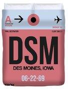 Dsm Des Moines Luggage Tag I Duvet Cover