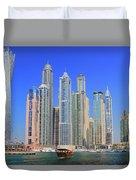 Dubai Marina Dubai Uae Duvet Cover