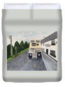 Dublin Bus Painting Duvet Cover