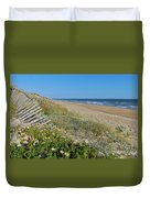 Dunes Wooden Fence Duvet Cover