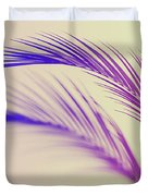 Duotone Background Of Tropical Palm Leaves Duvet Cover