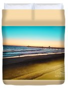 Dusk On The Strand Duvet Cover