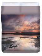 Dusky Pink Sunrise Bay Waterscape Duvet Cover