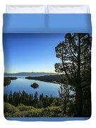 Early Morning Emerald Bay Duvet Cover