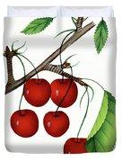 Early Richmond Cherries Duvet Cover