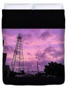East Texas Oil Derrick Duvet Cover