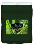 Eastern Black Swallowtail - Closed Wings Duvet Cover