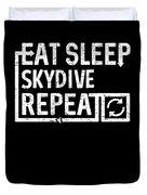 Eat Sleep Skydive Duvet Cover