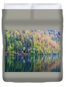 Echo Lake Autumn Shore Duvet Cover