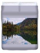 Echo Lake Early Autumn Reflection Duvet Cover