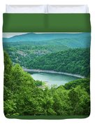 Edersee Lake Surrounded With Forest Duvet Cover