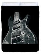Electric Guitar Musician Player Metal Rock Music Lead Black Duvet Cover