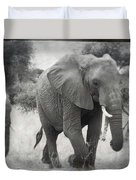 Elephant And Babies Duvet Cover