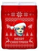 Elon Musk Merry Christmusk Duvet Cover