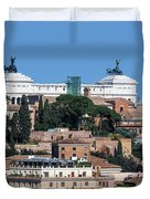 Emanuele II Monument Duvet Cover
