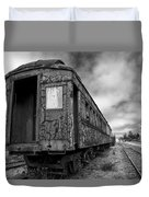 End Of The Line Bw Duvet Cover