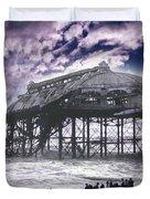 End Of The Pier Show Duvet Cover