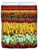 Endless Beautiful Tulip Fields Duvet Cover