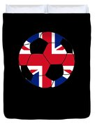 English Soccer Design British Flag Soccer Ball Duvet Cover