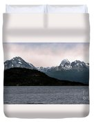 View Over Ensenada Bay Of High Peaks In Tierra Del Fuego National Park, Ushuaia, Argentina Duvet Cover