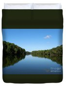 Erie Canal In Early Autumn Duvet Cover