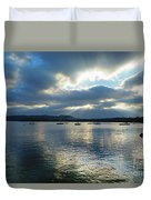 Evening On Windermere In Lake District National Park Duvet Cover