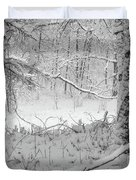 Evening Snow Duvet Cover