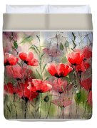 Everything About Poppies Duvet Cover