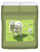 Ewe With Lambs Duvet Cover
